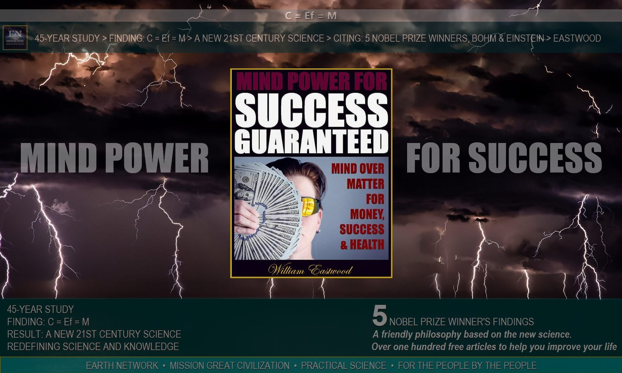 Thunder depicts using subconscious mind power to manifest success and materialize money.