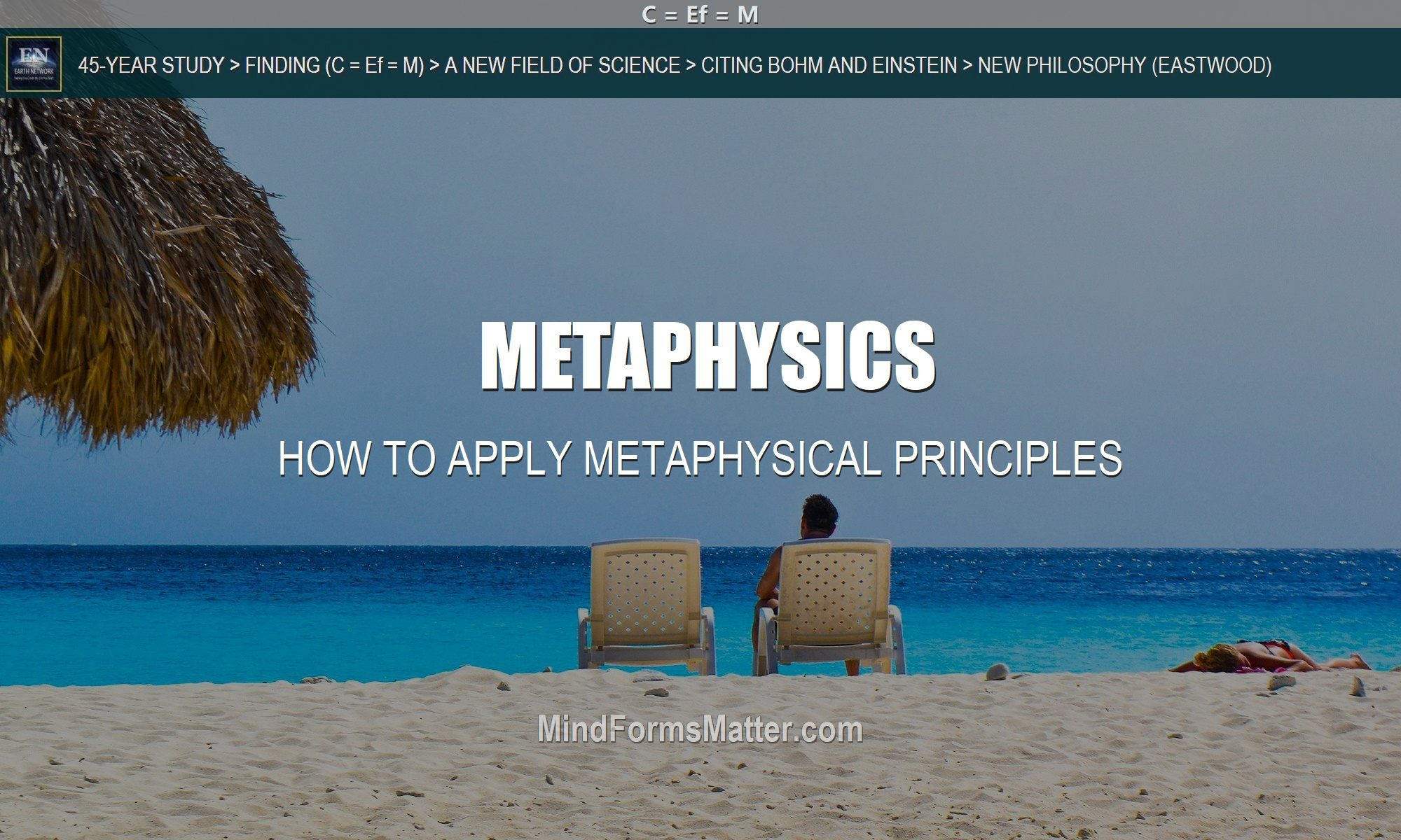man sitting on beach applies metaphysics successfully Metaphysical principles work for him