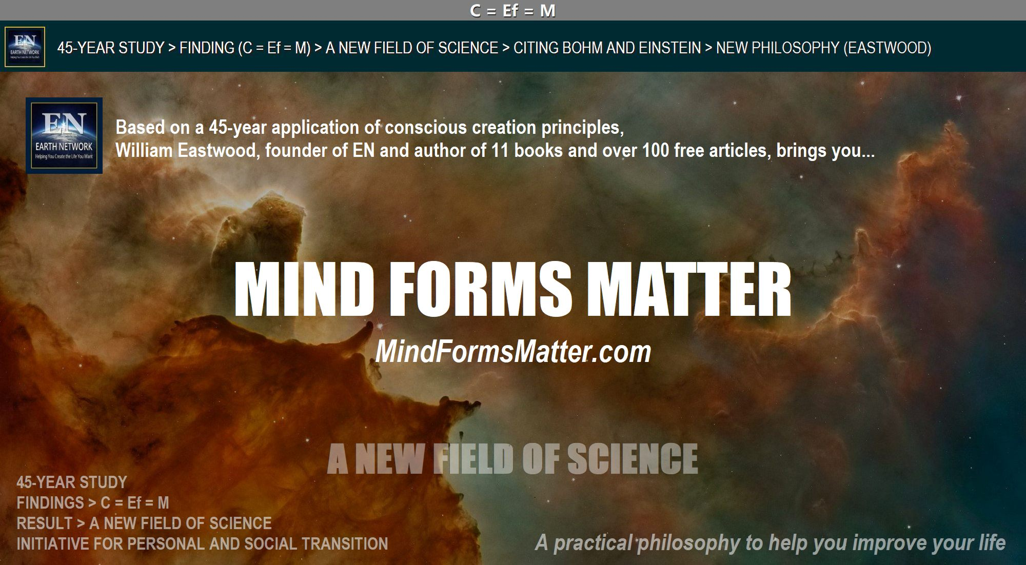 Galactic view of how MIND FORMS MATTER - Your Thoughts Create Your Reality - A New Field of Science and Nobel Prize winners proof