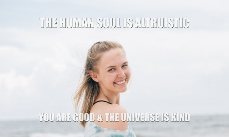 Human nature is good because Consciousness is good