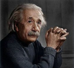 Einstein and Books by William Eastwood