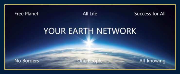 Image of sun rising over earth depicts About us and Earth Network thoughts create matter and our mission and science for humanity.