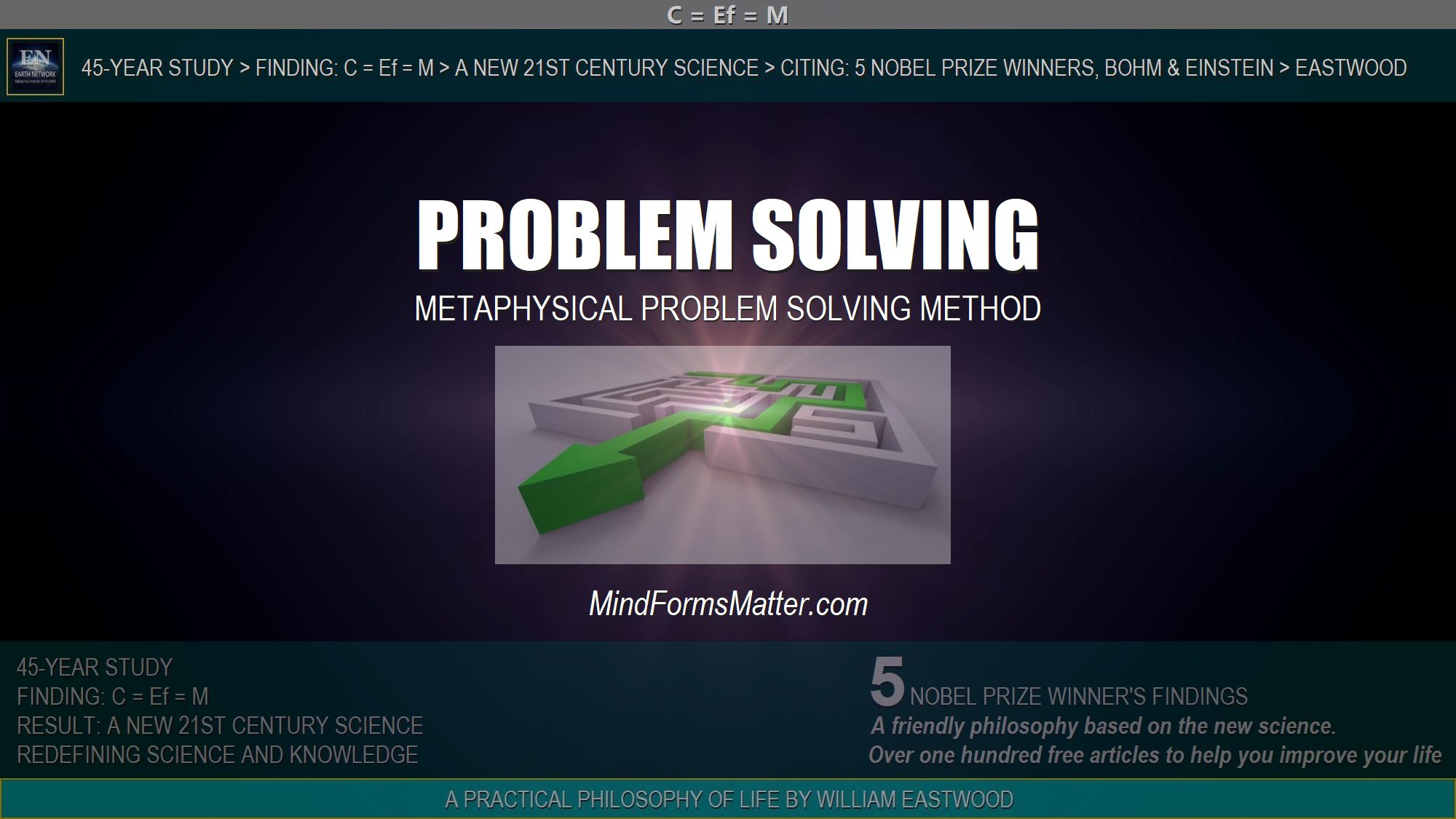 Path through maze depicts how well the advanced metaphysical problem solving method and superior approach to solving problems provided here works.