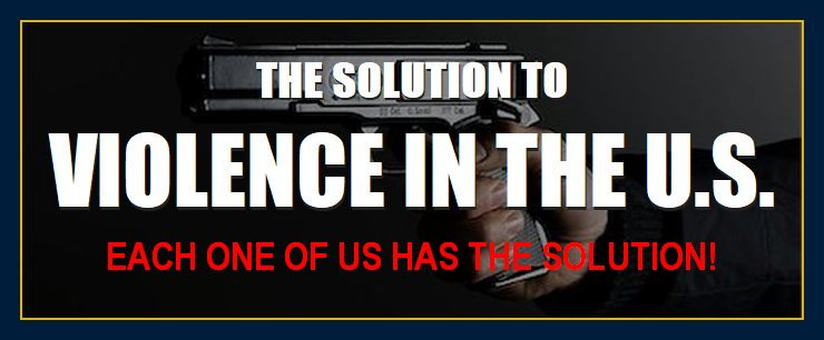 solution to gun violence division conflict problems crime discontent turmoil aggression victimization shootings homegrown terrorism
