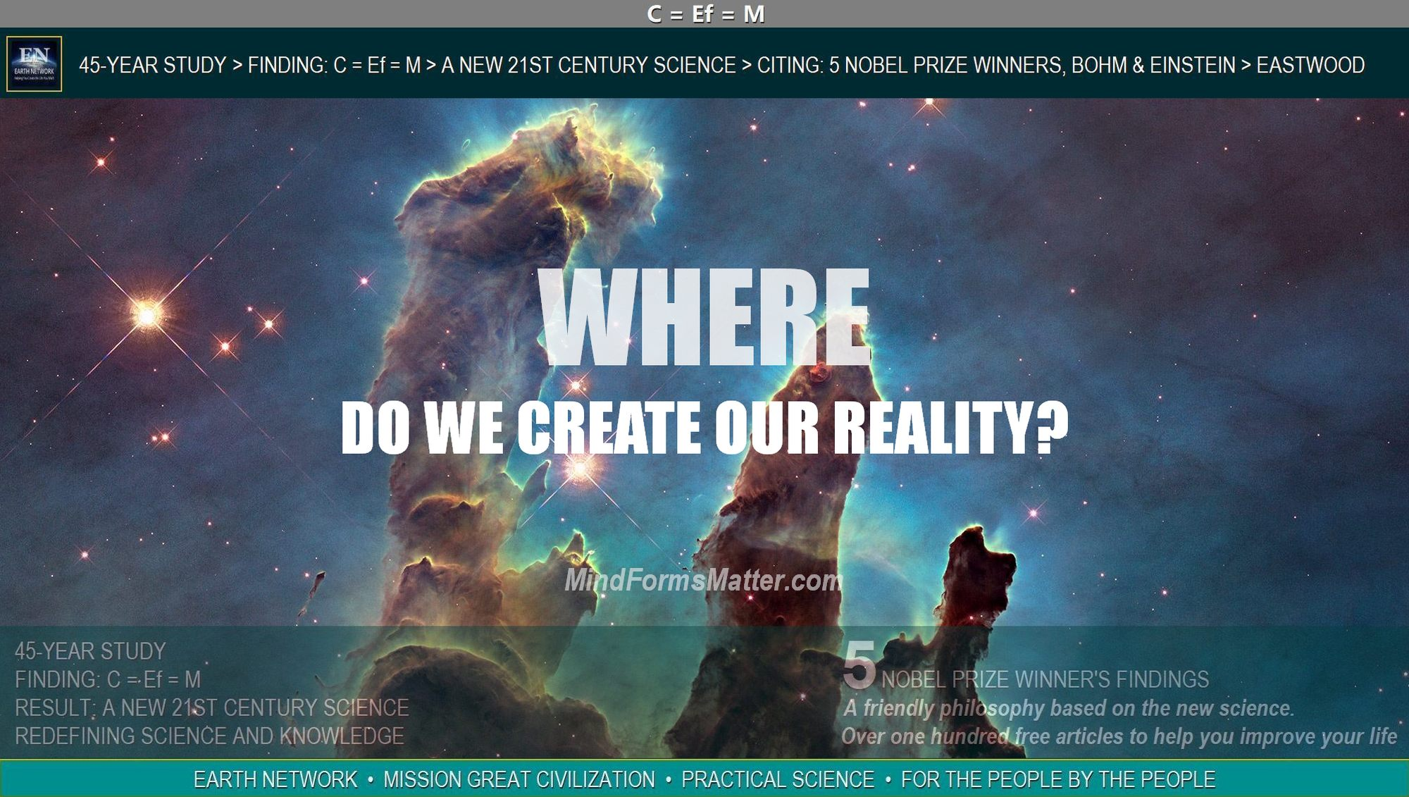 Galaxy depicts where we create our reality. You form events at deep inner levels of consciousness within an inner spiritual world.